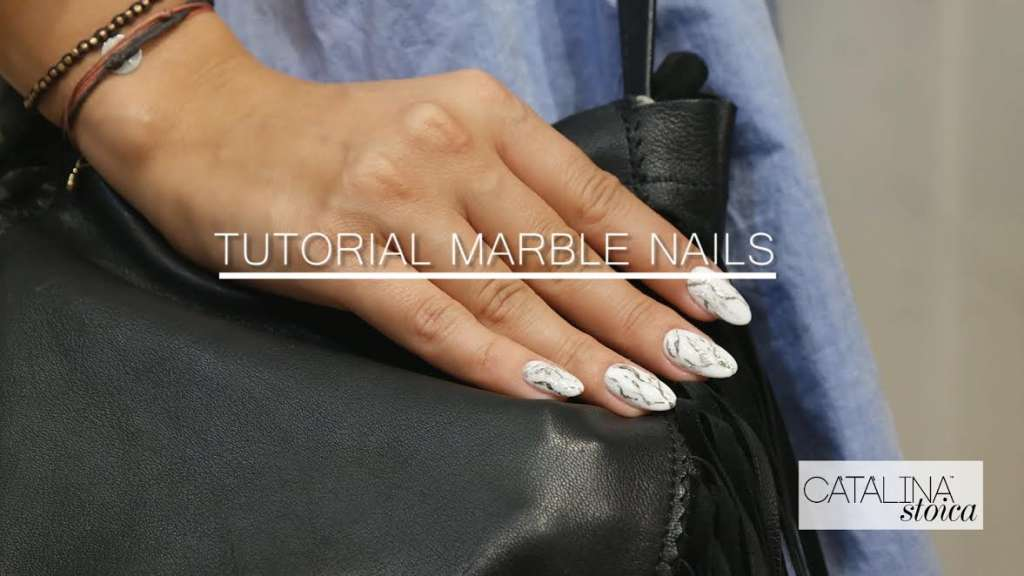 Poza Tutorial Marble Nails